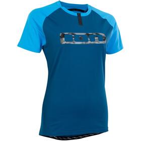 ION Traze Button Kurzarm-Shirt Damen blau
